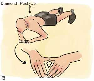 Diamond push up