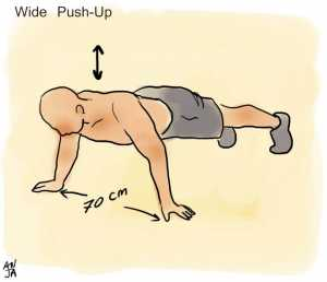 Wide push up