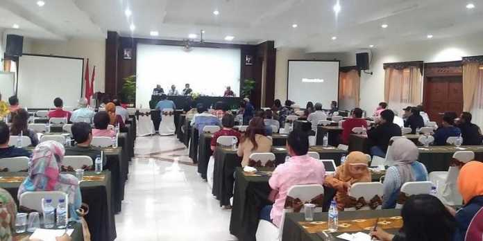 Pertemuan user Malang City Point dan pihak PT Graha Mapan Lestari (GML) di Hotel Universitas Brawijaya (UB), sore ini.