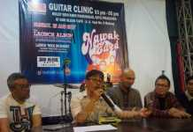 Press conference Nawak Ewed di God Bless Cafe Malang. (Anja Arowana)