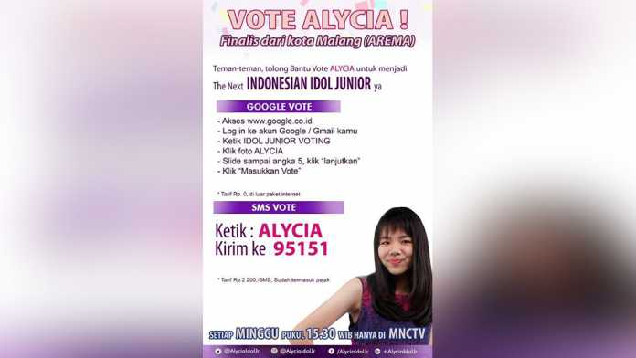 Poster Alycia Indonesian Idol Jr
