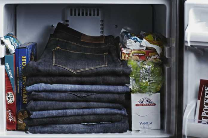 jeans on freezer. (Medium.com)