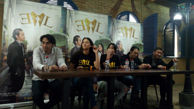 Pemain EL The Movie saat presscon. (Anja a)