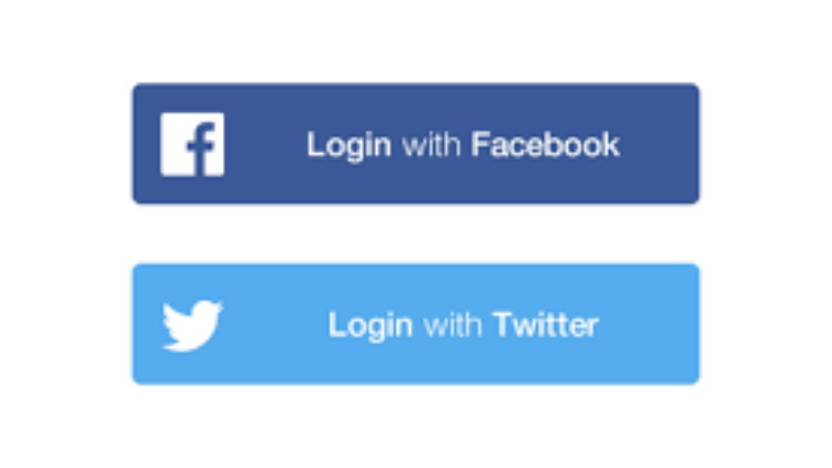 Tombol login with Facebook. (Dribbble.com)