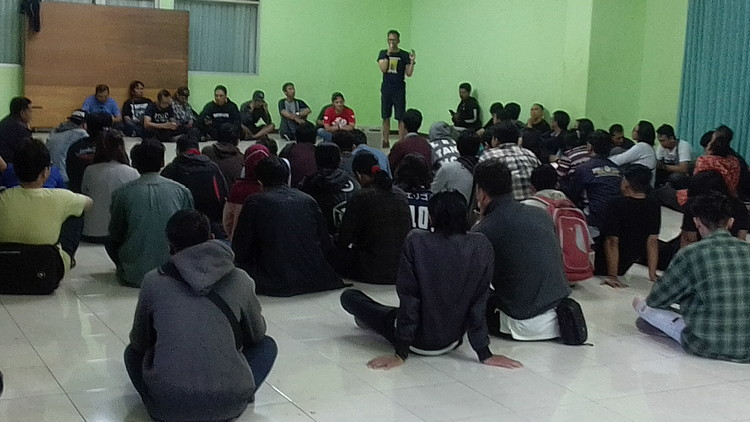 Technical Meeting jelang event 104 sound system. (Lisdya Shelly)