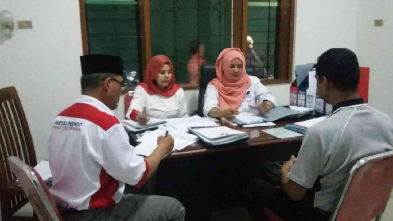 Proses interview bacaleg. (istimewa)