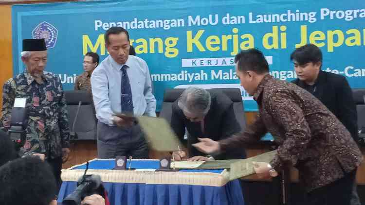 Penandatanganan MoU antara UMM dan Mate Care Co Ltd. (Anja a)