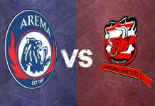 Arema FC vs Madura United. (Mvoice)