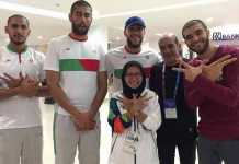 Volunteer Asian Games, Julieta bersama atlit Iran.