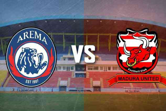 Madura United vs Arema FC. (Mvoice)